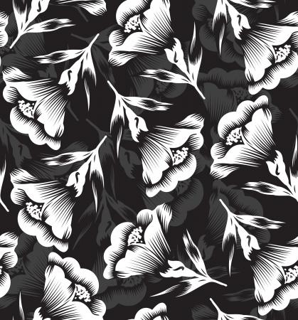 Floral seamless designer wallpaper