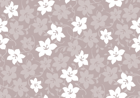 mustered: Seamless fancy floral wallpaper