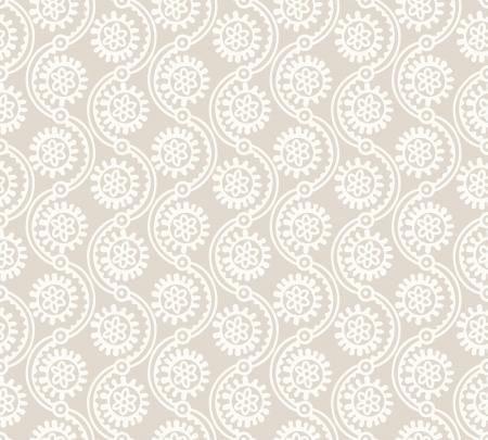mustered: Papel tapiz de flor abstracta