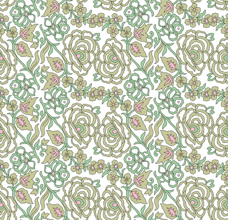 greeting card background: Seamless floral greeting card background