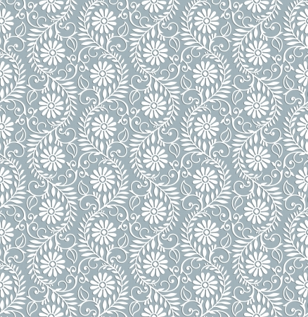 Seamless floral royal wallpaper Vector