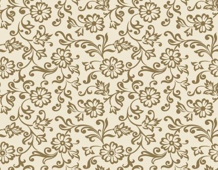 Seamless vector fancy floral wallpaper Vector