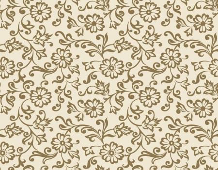 Seamless vector fancy floral wallpaper Stock Vector - 18874916