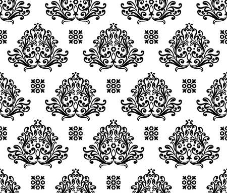 traditional silver wallpaper: Seamless decorative floral wallpaper
