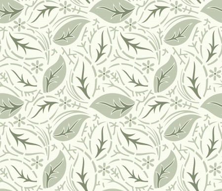 Seamless fancy leaves wallpaper