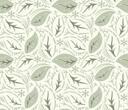 fancy floral wallpaper: Seamless fancy leaves wallpaper