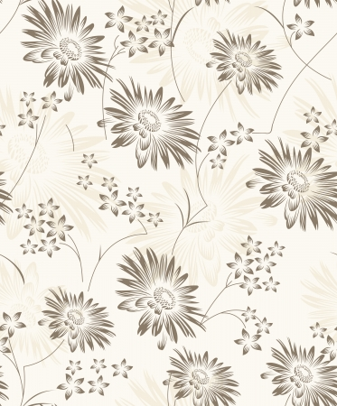 Seamless artistic floral wallpaper Stock Vector - 19021609