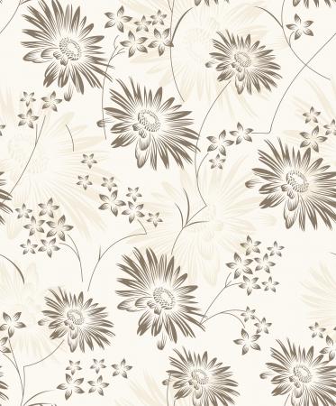 Seamless artistic floral wallpaper Stock Vector - 19021609