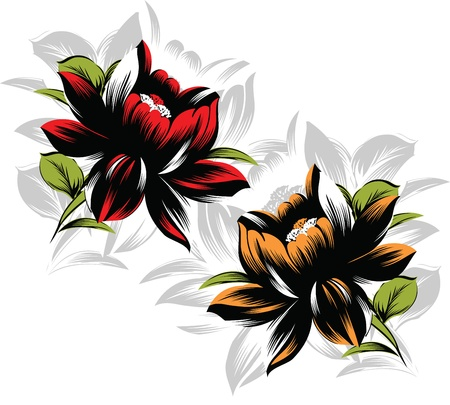 Vector flower design Vector
