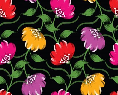 Seamless vector floral design Vector
