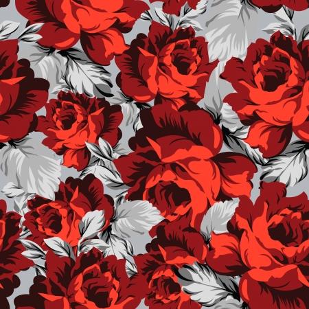 Seamless vector rose wallpaper
