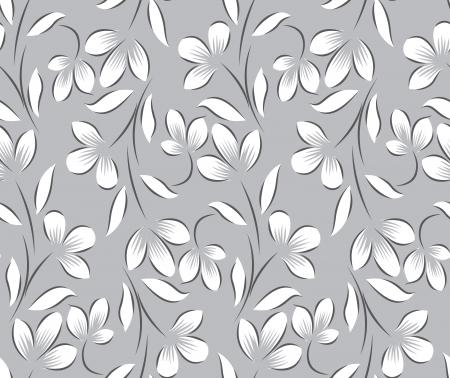 Fondo floral sin fisuras de plata Foto de archivo - 19199583