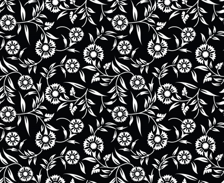 Floral wedding card background Vector