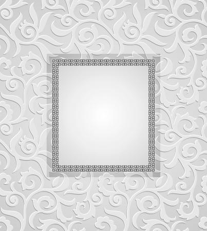 Traditional silver invitation card Vettoriali