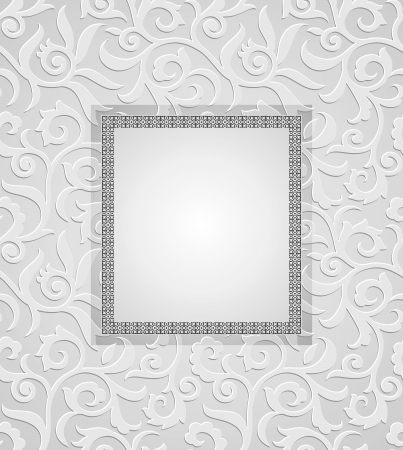 Traditional silver invitation card Illustration