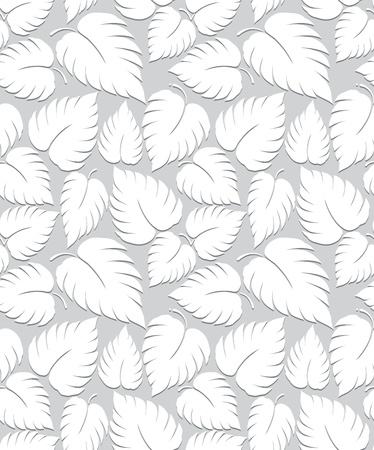 Seamless leaves background design Vector