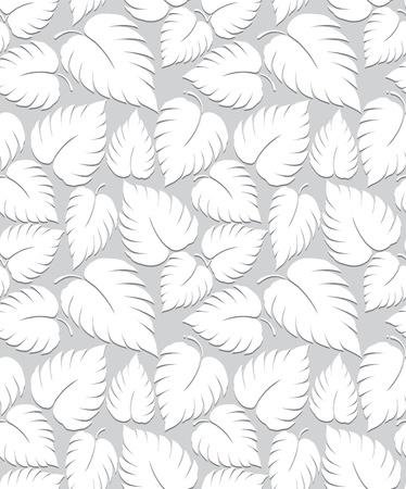 Seamless leaves background design Illustration