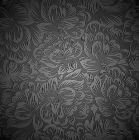 Royal floral wallpaper Stock Vector - 19577869