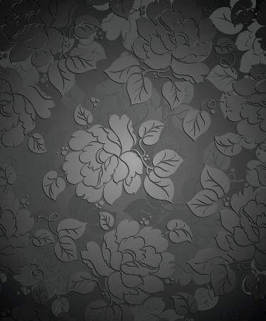 Royal seamless rose flower wallpaper Vector
