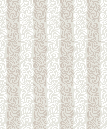 Seamless golden abstract floral wallpaper Illustration