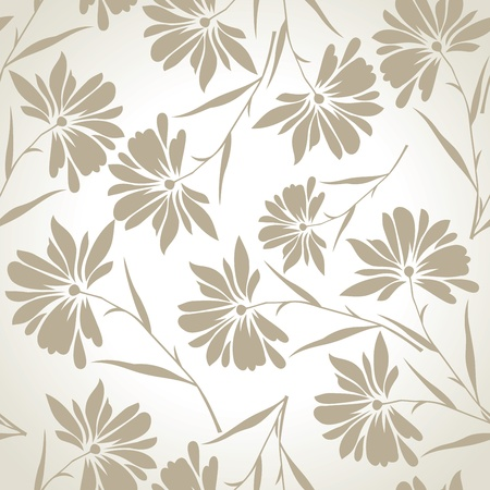 Seamless designer floral wallpaper Stock Vector - 19724149