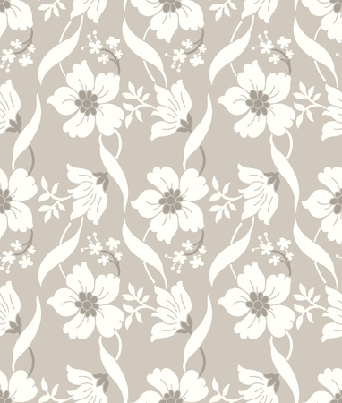Seamless fancy designer floral wallpaper Vector