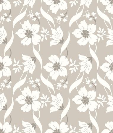 Seamless fancy designer floral wallpaper Illustration