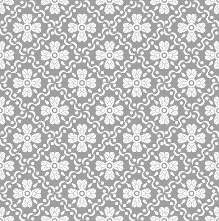 Seamless royal floral wallpaper Vector