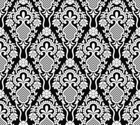 Damask seamless vector wallpaper