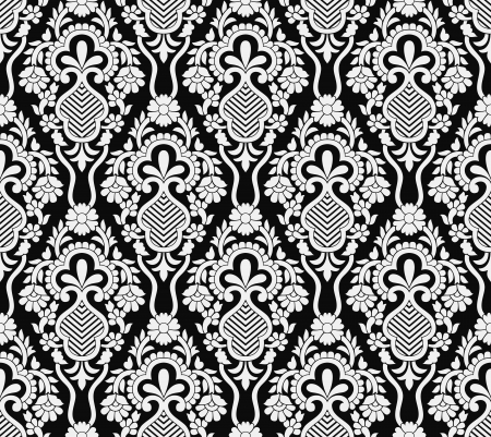 vector wallpaper: Damask seamless vector wallpaper