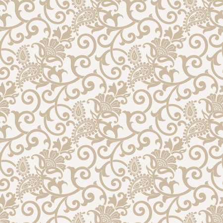 Seamless vector paisley wallpaper Illustration