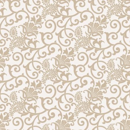 Seamless vector paisley wallpaper Illustration