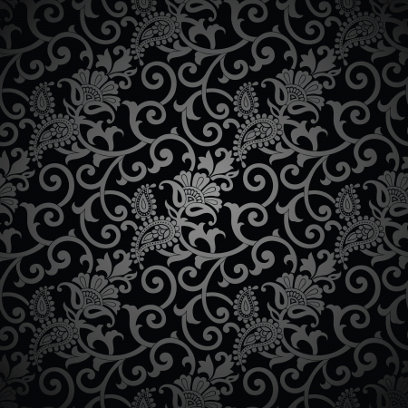 Seamless paisley royal background Vector