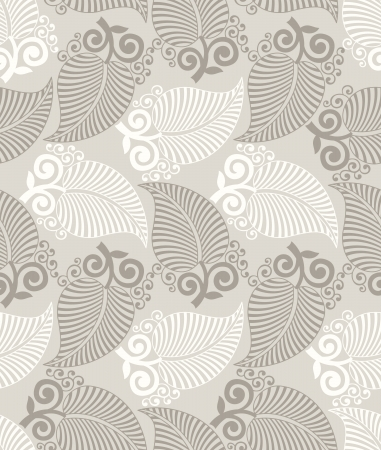 Seamless fancy leaves wallpaper Vector