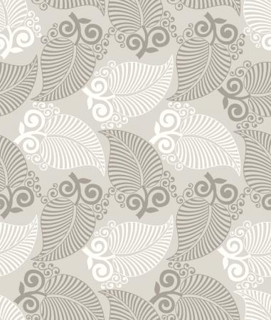 Seamless wallpaper hojas fantas?a Foto de archivo - 19882714