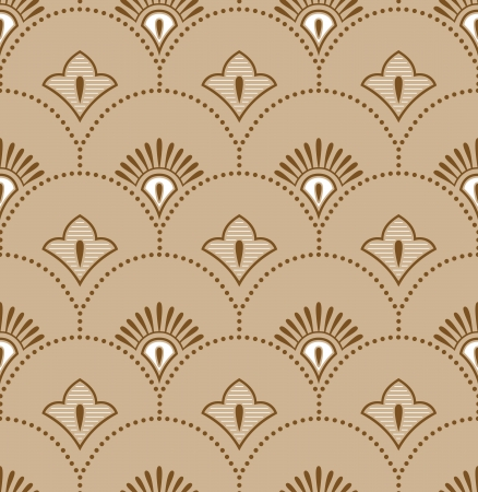 Seamless royal golden wallpaper Vector