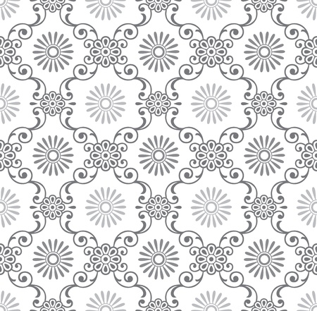 Seamless fancy floral wallpaper Vector