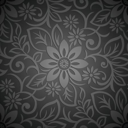 Seamless real floral vector wallpaper Foto de archivo - 19882715