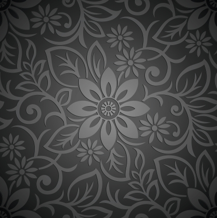 floral vector: Seamless royal vector floral wallpaper
