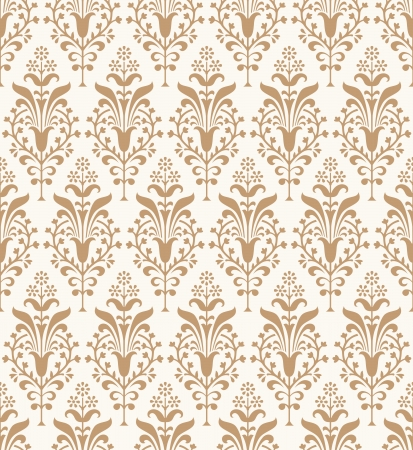 Seamless traditional designer wallpaper Vector