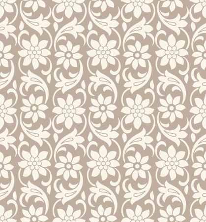 Seamless vector flower wallpaper