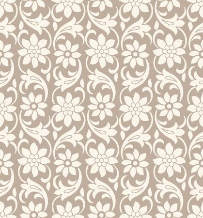 Seamless vector wallpaper fiore Archivio Fotografico - 19882740