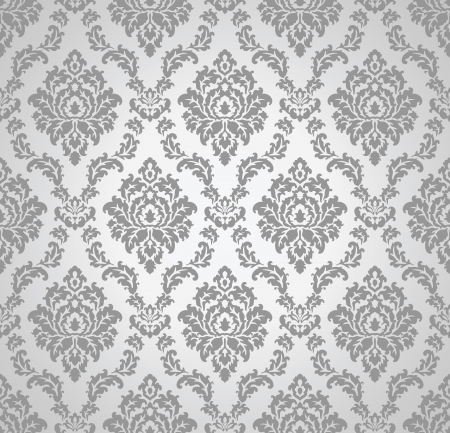Seamless damask wallpaper Illustration