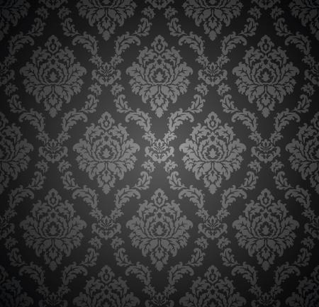 Seamless real damasco wallpaper Foto de archivo - 19882717