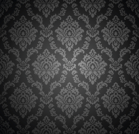 Seamless royal damask wallpaper Vector