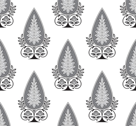 Seamless royal flower wallpaper Vector