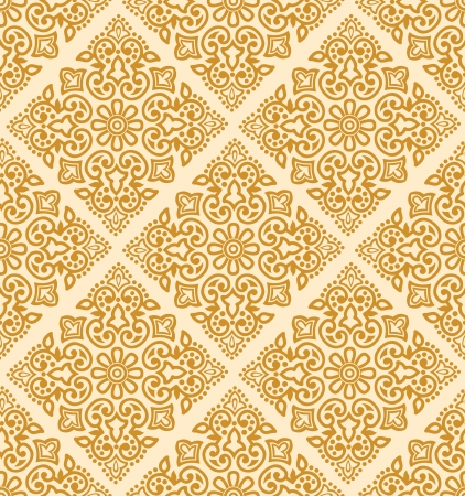 Seamless royal golden pattern Vector