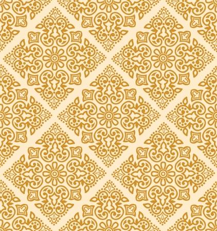 Seamless royal golden pattern Stock Vector - 20074691
