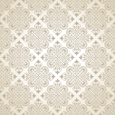 Seamless vector traditional wallpaper Stock Vector - 20074690