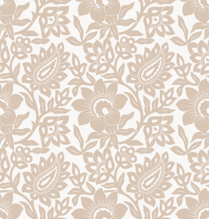 Floral seamless golden background Vector